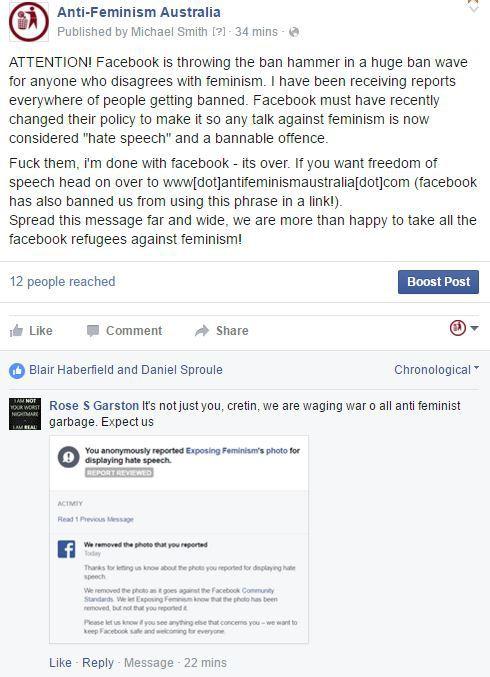 Krieg gegen Nichtfeministen